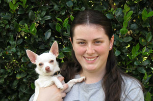 Caitlin with Lily